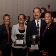 Professor Davis ans Chief Judge Washington with WBA Board Member Claudia Crichlow and WBA President Karen Evans