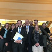Dean Grossman and students with the United Nations High Commissioner for Human Rights Zeid Ra'ad Al Hussein