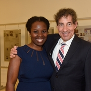 Marshall-Brennan Assoc. Director Lisa Curtis with Rep. Raskin