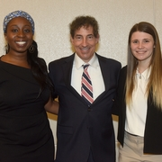 Howard Law School 3L Helen Osun, Rep. Jamie Raskin, and WCL 2L Samantha Dos Santos