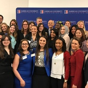 American University students with Justice Breyer.