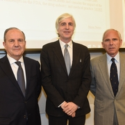 Prof. Juan Mendez, David Tolbert, and Prof. Robert Goldman
